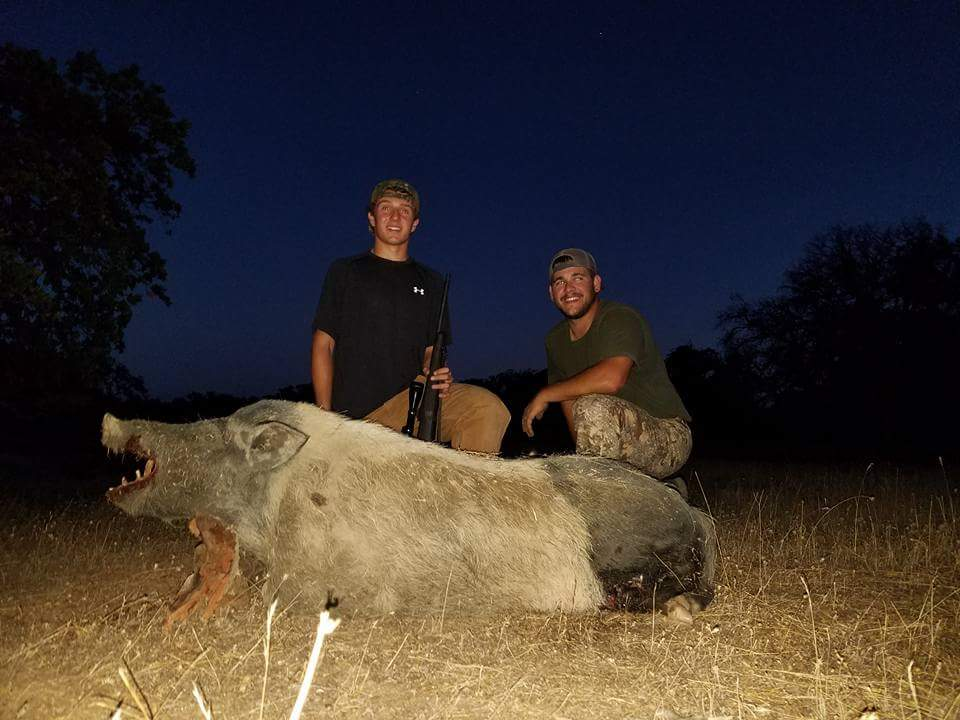 Derek with a monster boar