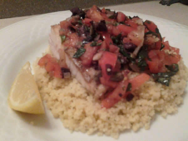 Captain Pelican Phil's Killer Greek Style Seared Fish With Couscous