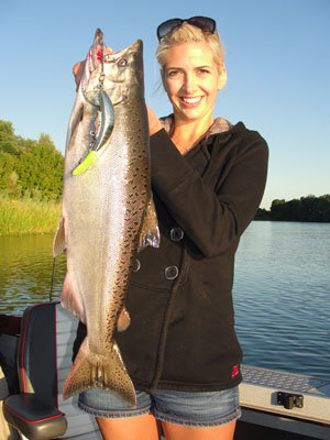 Alma with a July king salmon