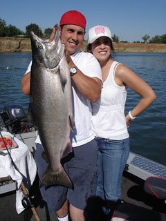 Brad and Amy  with their 24 pound bright king