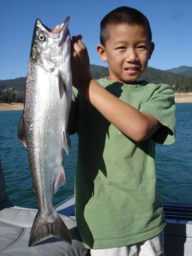 Wow nice salmon for the little guy